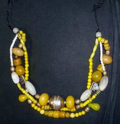 etsy necklace yellow neuneu1