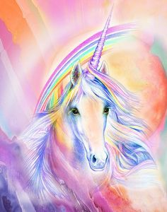 Shop for Rainbow Unicorn Diamond Painting Kit at Pretty Neat Creative with ✅ Softest canvas, Sparkliest beads ✅ Most Durable Package ✅ WARRANTY. Unicorn And Fairies, Unicorn Fantasy, Real Unicorn, Unicorns And Mermaids, Unicorn Horse, Unicorn Art, Cute Unicorn, Rainbow Unicorn, Unicorn Quotes