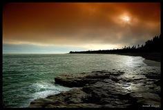 Ile Anticosti - Ile Anticosti, Quebec Canada, Quebec, North America, Centre, River, Celestial, Painting, Outdoor, Madeleine