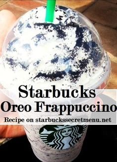 Starbucks Secret Menu: Cookies and Cream/Oreo Frappuccino Starbucks Frappuccino, Starbucks Secret Menu Drinks, Starbucks Coffee, Starbucks Cookies And Cream Frappuccino Recipe, Oreo Starbucks Drink, Oreo Frappe Recipe, Starbucks Whipped Cream, Starbucks Order, Starbucks Hacks