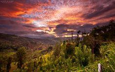 Sunset in Kandy, Sri Lanka