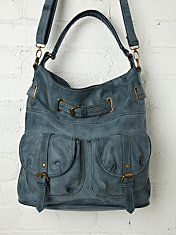 Lizzy Double Pocket Hobo Tote Bag