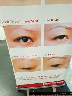 Before n After Comparison Photos for Beauty Shop   Beauty Eyebrows Food-And-Drinks