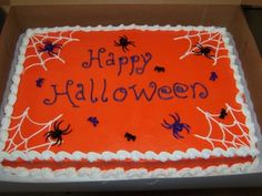 halloween sheet cake by chrismis15 on cakecentralcom - Easy Halloween Cake Decorating Ideas