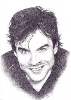 Drawings of Vampire Diaries images