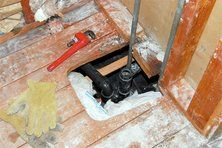 Hole in floor causing an air leak | Repairs happen...Here are the Top 10 Common Repairs and Costs.