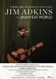 JIM ADKINS (JIMMY EAT WORLD) EN BARCELONA Y MADRID EN SEPTIEMBRE