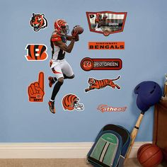 Fathead Cincinnati Bengals AJ Green Junior Decal - Wall Sticker Outlet