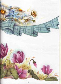 Pintura em Tecido Passo a Passo: Pintura em tecido margaridas e ciclame