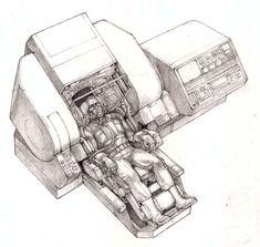 Ron Cobbs fabulous concept artwork for the Rekall Chair from 'Total Paul Verhoeven Brad Wright, Michael Gibson, John Berkey, Mars Colony, Total Recall, Australian Artists, Retro Art, Sci Fi Art, 1 Peter