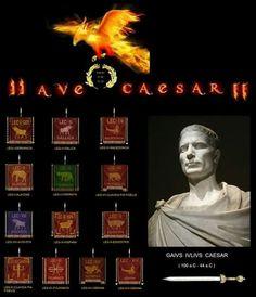 """"""" Legiones de Julio César """"  : Todas estas legiones tuvieron el honor de ser mandadas por Julio César. Algunas fueron fundadas por Él ( Legiones : I - III - IV - V - VI - XI - XII - XIII - XIV ) y otras fueron fundadas y  puestas bajo su mando, por el Senado de Roma ( Legiones : VII - VIII - IX - X )"""