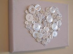 Button art - hearts