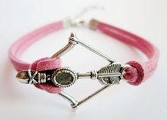 BraceletSilver Disney Brave Inspired Merida Bow Bracelet by LYlord, $2.99