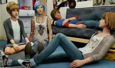 Life Is Strange: Max, Chloe, Kate and Warren - my four ultimate favourites in the game