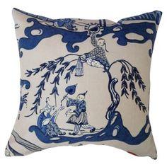 Blue & White Chinoiserie Pillow