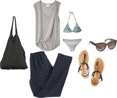 I need a vacation!!! by sabinski-05 featuring a beach bikini ❤ liked on Polyvore