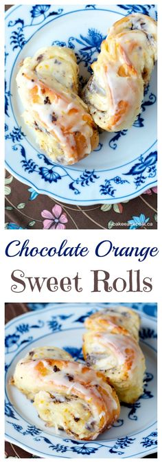 Chocolate Orange Sweet Rolls - soft and fluffy with a decadent dark chocolate orange filling, and a sweet glaze. Perfect for breakfast, brunch or dessert!   cupcakesandkalechips.com