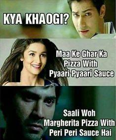 bhai ka sat hu because village mai acha food nai hota ha man ka nai hota ha issliya Very Funny Memes, Funny Jokes In Hindi, Funny School Jokes, Cute Funny Quotes, Some Funny Jokes, Good Jokes, Funny Relatable Memes, Funny Facts, Hilarious