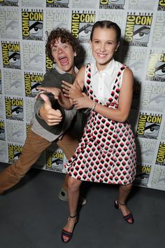 Stranger Things Kids at San Diego Comic-Con 2017. Millie, Finn, Noah, Caleb, Sadie and Gaten are show enjoying the festivities.