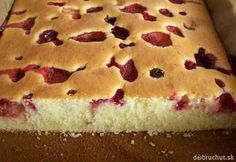 Nadýchaná pudingová bublanina Czech Desserts, No Bake Desserts, Czech Recipes, Russian Recipes, Sweet Recipes, Cake Recipes, Dessert Recipes, European Dishes, Cake Bars