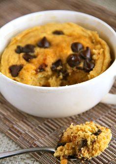 Chocolate chip pumpkin mug cake!!!!! Gluten Free Dairy Free Sugar Free
