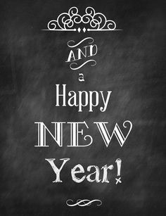 Clever Karen: and a Happy New Year! Free chalkboard art to download and print!