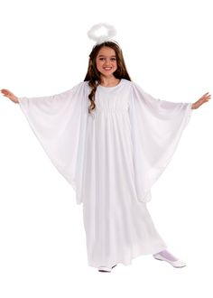 Toddler and Child Angel Costume With Bell Sleeves - Candy Apple Costumes - Angel Costumes