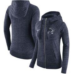8cfcac3eb2fb0 Women s Nike Heathered Navy Penn State Nittany Lions Gym Vintage Full-Zip  Hoodie