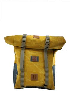 ebcd20b158 35 L Waxed Canvas roll-top Backpack Yellow Rover Slate Top Backpacks