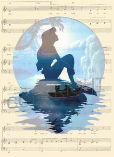 The Little Mermaid Ariel Art Print by AmourPrints on Etsy