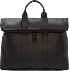 $796, Black Leather Tote Bag: 3.1 Phillip Lim Black Leather 31 Hour Tote Bag. Sold by SSENSE.