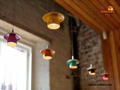 #decoracion LAS MEJORES CASAS DE MÉXICO. Para la decoración del hogar no hay límites, pruebe con hacer una lámpara con una taza de té y su plato, agujerando ambos del fondo y colocándola en algún foco colgado del techo. Seguro es una opción bastante original que le dará un toque muy lindo a su hogar. En Grupo Sadasi, le invitamos a conocer los diferentes modelos de vivienda que hemos diseñado, para el bienestar de usted y su familia. informes@sadasi.com