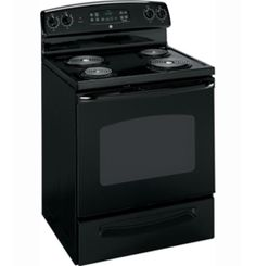 """JCBP350DTBB by General Electric Canada in Winnipeg, MB - GE 30"""" Free Standing Electric Self Cleaning Range Shop JS Furniture Gallery for all your appliance needs.  1725 Ellice Avnue, Winnipeg, http://furnitureandmore.ca"""