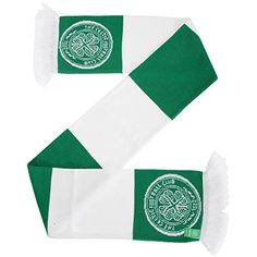 Celtic FC Official Football/Soccer Supporters Crest/Logo Bar Scarf (One Size) (White/Green) * Read more reviews of the product by visiting the link on the image.