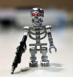 Lego Custom Minifigures, Lego Minifigure Display, Lego Minifigs, Lego Duplo, Lego Terminator, Legos, Lego Craft, Craft Art, Lego Dragon