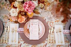 wedding decor inspired by pantones 2015 color of the year ..love it paired with gold flatware