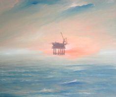 """""""Platforma"""", olej na płótnie,100×120 cm"""