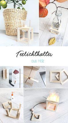 DIY, Gingered Things, Holz, Kerzenständer, Teelichthalter, Deko,