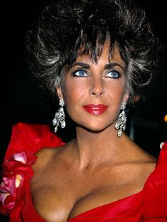 Elizabeth Taylor in the 40th Cannes film festival 1987.