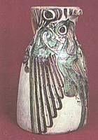 Jarra de pico de cigüeña. ( S.X V ) teruel