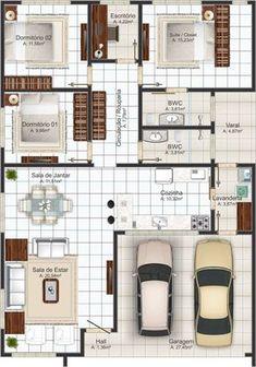 8 Modelos de Plantas de Casas Para Inspirar | Projetos e Plantas de Casas | Ideias de PROJETOS