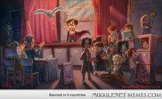 Artist Portraying Harry Potter Characters as Kids