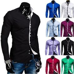 Double Collar Stylish Dress Shirts