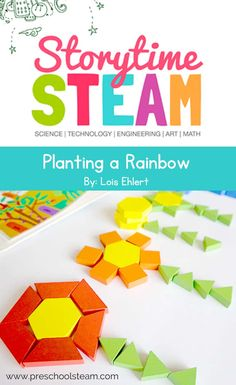 Planting a Rainbow STEAM activity for spring. Perfect for your preschool or kindergarten kids!