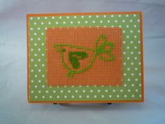 A Little Bird Told Me hand stitched card by HMCrafters on Etsy
