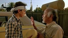 Karate Kid (1984)...Mr. Miyagi finally agrees to teach Daniel karate, as long as Daniel follows instructions without question.