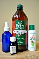 All Natural Sunburn Relief Spray - Non-Toxic, Safe and Super Easy! ( raw apple cider vinegar, 3 T. water, 1 T organic aloe vera gel, drops lavender essential oil mixed in a glass spray bottle) relief Natural Sunburn Relief, Natural Remedies For Rosacea, Natural Cures, Natural Skin, Sunburn Remedies, Psoriasis Remedies, Itchy Sunburn, Essential Oil For Sunburn, Essential Oils