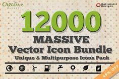 12000 Massive Vector Icons Bundle #1 by Optimistic Designs on Creative Market