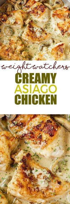 Weight Watcher's Creamy Asiago Chicken!!! - 22 Recipe