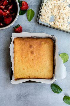 Rhubarb Strawberry & Kaffir Lime Louise Cake - The Brick Kitchen
